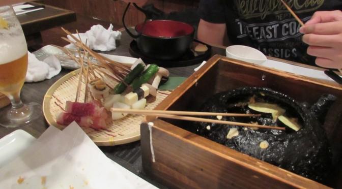 手前天ぷら 楽天庵 自前で揚げた天ぷらはサクっとして最高!